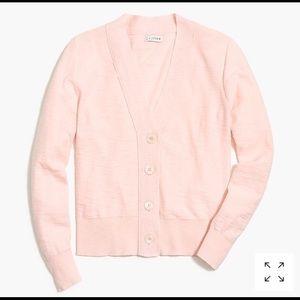 J Crew Factory V-neck slub cotton cardigan